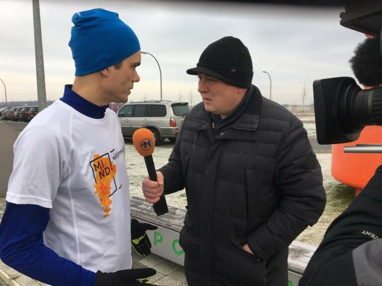 MIND Blue Monday Run Blauwestad Groningen 2019 Stefan interview RTV Noord